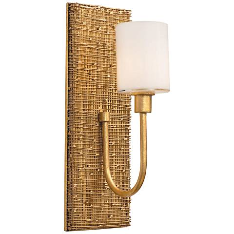 "Cestino 14"" High Gold Leaf LED Wall Sconce"
