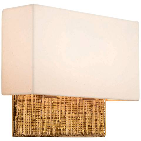 """Cestino 10"""" High Gold Leaf Wall Sconce"""