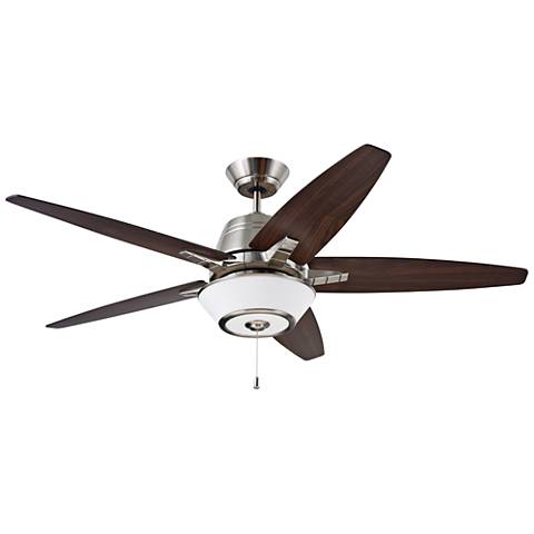 "56"" Emerson Euclid Brushed Steel LED Ceiling Fan"