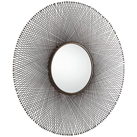 """Cyan Design Gabriela Antique Brass 45 1/2"""" Round Wall Mirror"""
