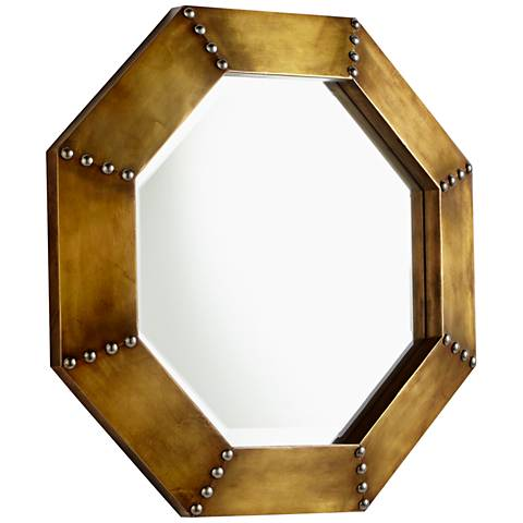 "Cyan Design Gold 19"" x 19"" Octagon Wall Mirror"