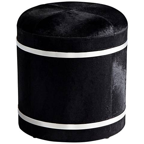 "Cyan Design Casselton 18"" Black Accent Stool"