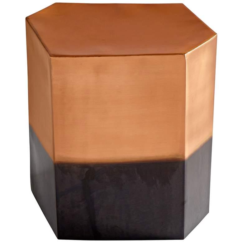 "Cyan Design Golden Hunk 20 1/2"" Copper Iron Accent Stool"
