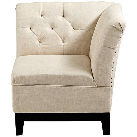 Cyan Design Emporia Oatmeal Cotton Tufted Accent Chair