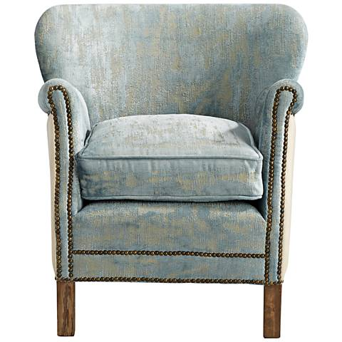 Cyan Design Bailey Blue Vintage Velvet Armchair