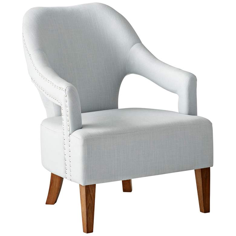 Cyan Design Opal Throne Pearl Linen Armchair