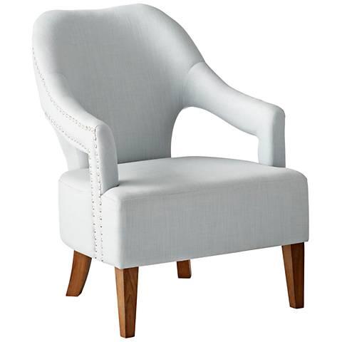 Cyan Design Opal Throne Pearl Linen Armchair