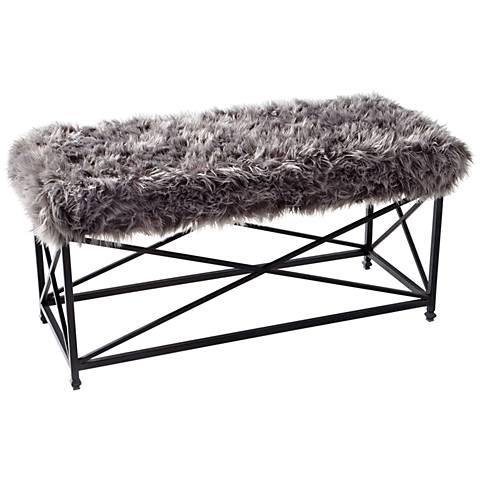 Cyan Design Ushanka Graphite and Gray Rectangular Bench