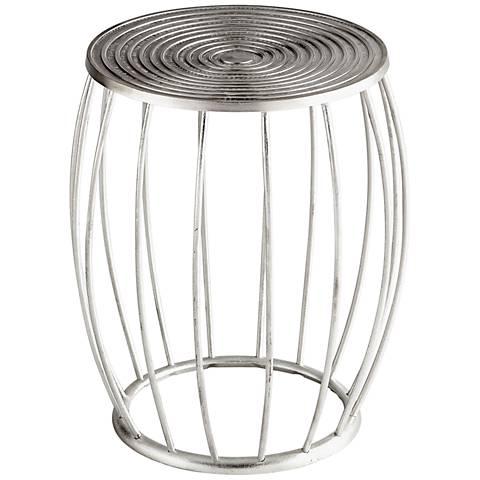 "Cyan Design Zodiac 21 1/4"" Silver Aluminum Accent Stool"
