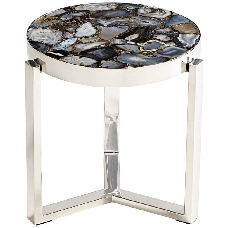 Cyan Design Geodance Nickel Round Side Table