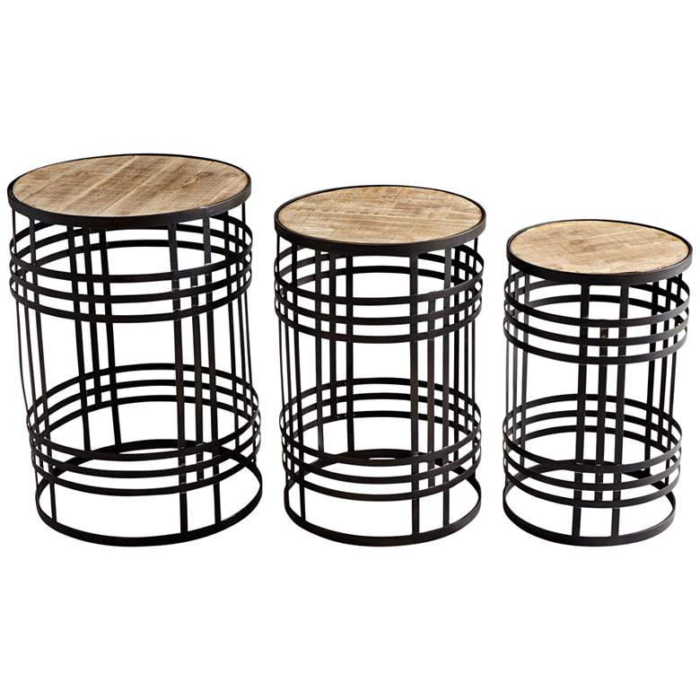 Banded About Rustic Farmhouse Bronze Tables - 3-Piece
