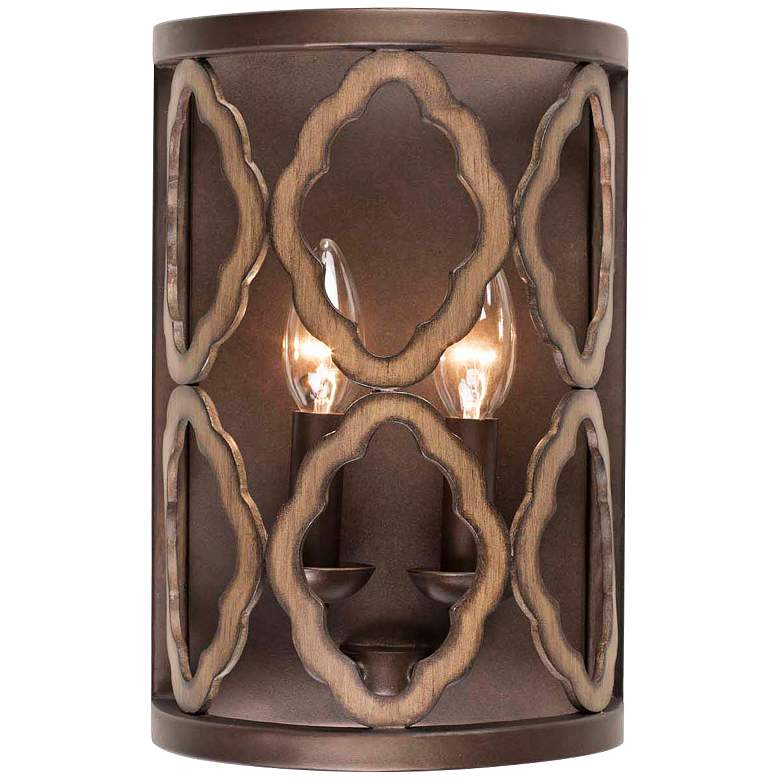 """Whittaker 12"""" High Brownstone 2-Light Wall Sconce"""