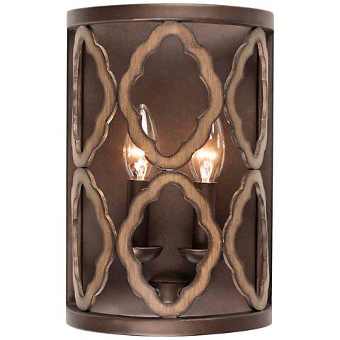 "Whittaker 12"" High Brownstone 2-Light Wall Sconce"