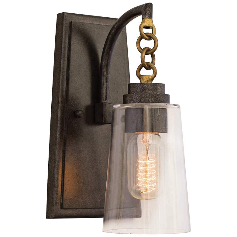 "Dillon 11"" High Milled Iron Wall Sconce"