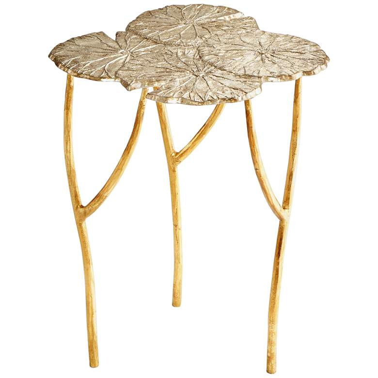 """Ulla 17 3/4"""" Wide Silver and Gold Accent Table"""