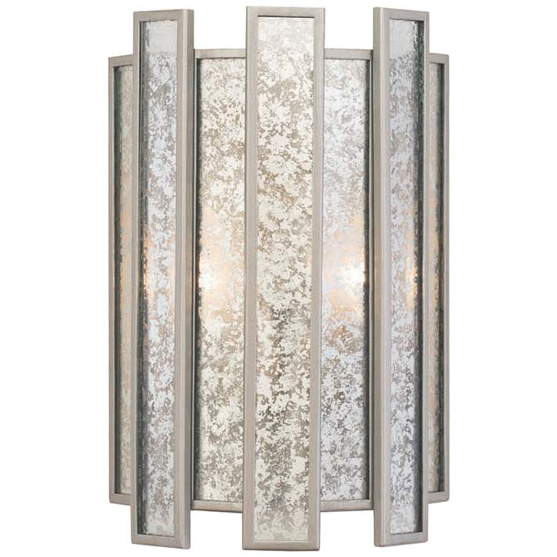 """Palisade 14"""" High Tarnished Silver Wall Sconce"""