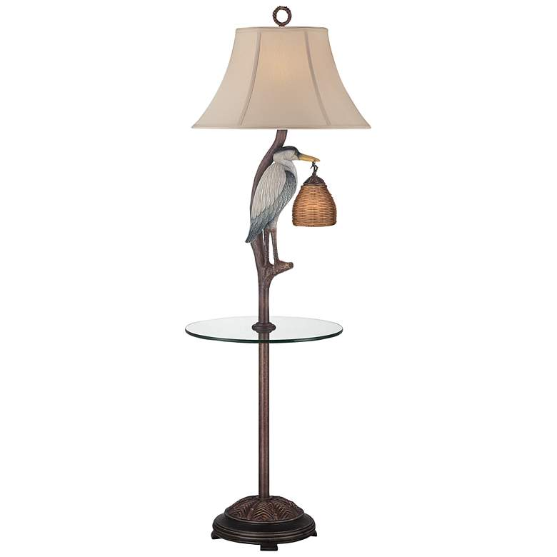 Heron Antique Night Light Floor Lamp