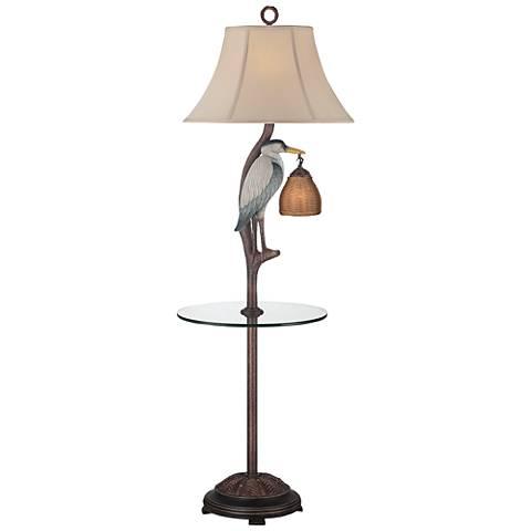 Heron Antique Night Light Floor Lamp