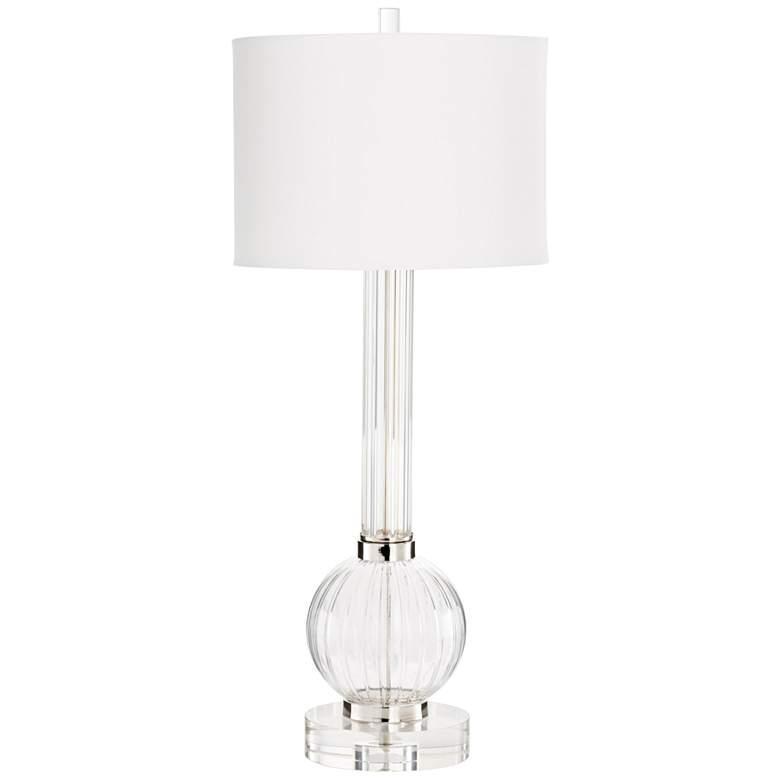 Cyan Design Ilene Clear and Cobalt Glass Table Lamp