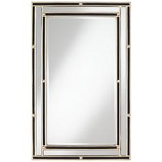 """Carthage Champagne and Black 29 1/4"""" x 46"""" Wall Mirror"""