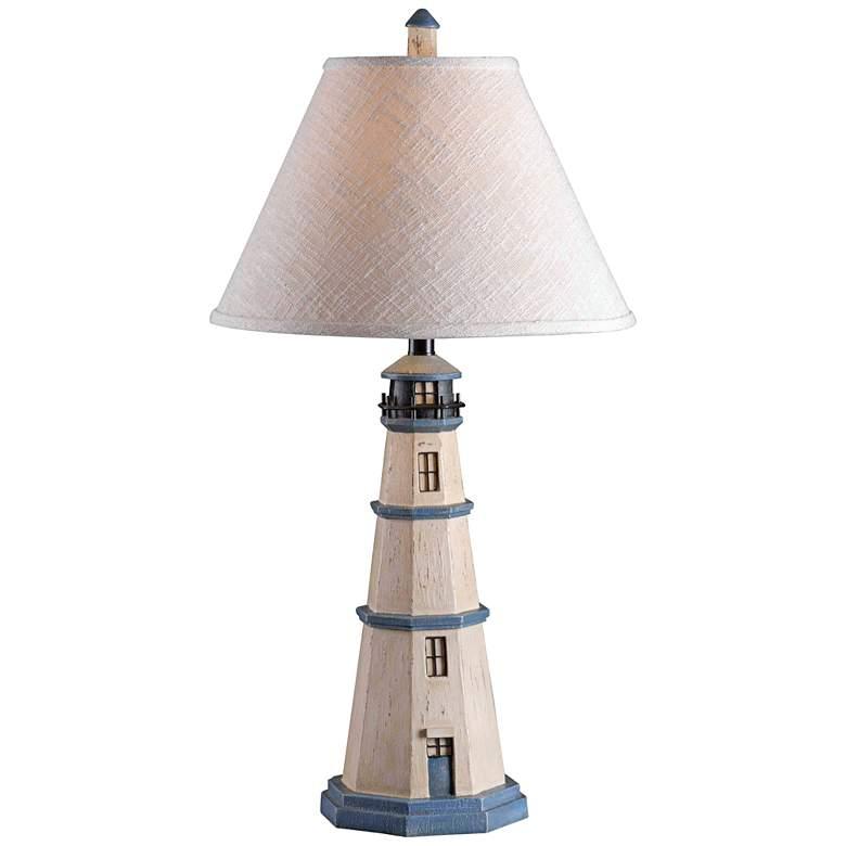 Kenroy Home Nantucket Antique White Table Lamp
