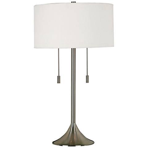 Kenroy Home Stowe Brushed Steel Table Lamp