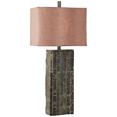 Kenroy Home Ripple Natural Slate Table Lamp