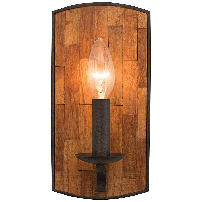 """Lansdale 10"""" High Black Iron Wall Sconce"""