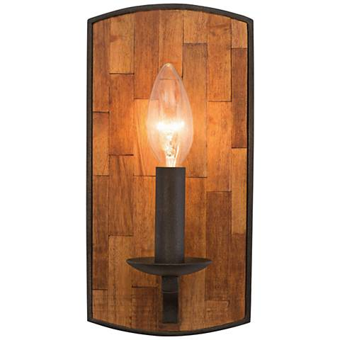 "Lansdale 10"" High Black Iron Wall Sconce"