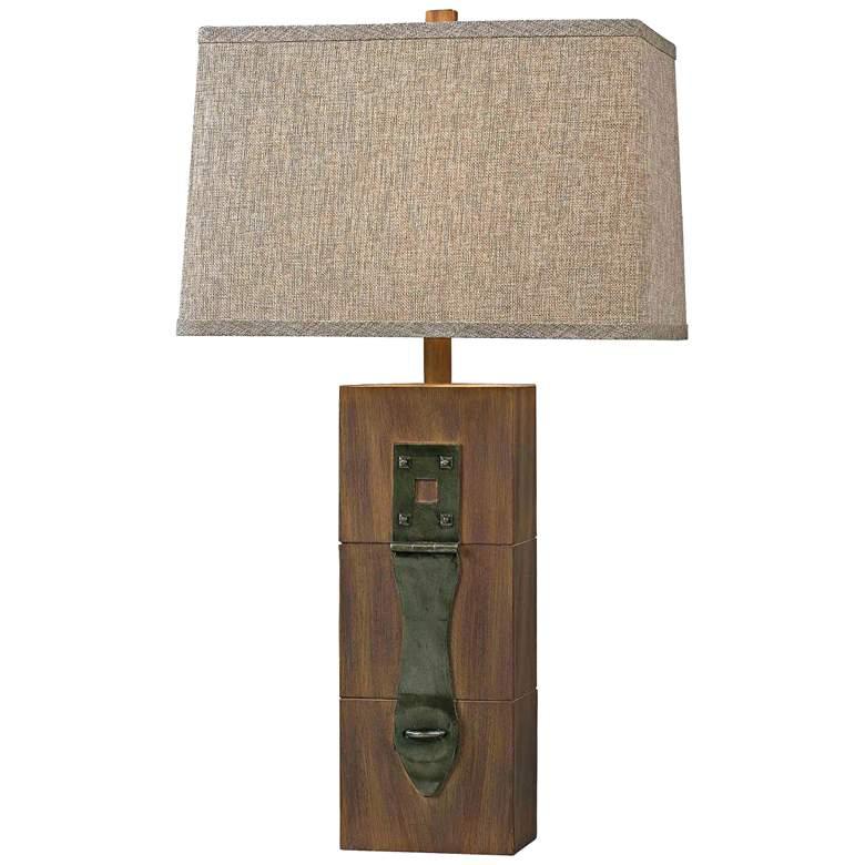 Kenroy Home Locke Wood Grain Table Lamp