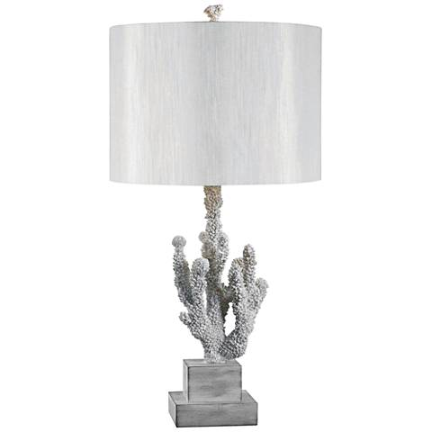 Kenroy Home Coral White Coral Table Lamp