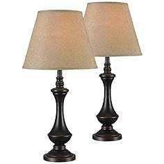 Kenroy Home Stratton II Rubbed Bronze Table Lamp Set Of 2