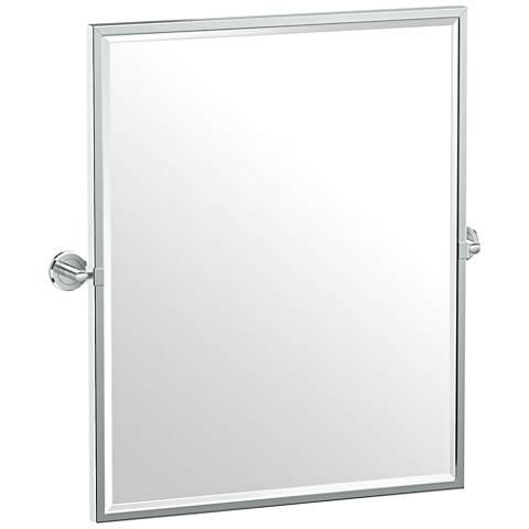 "Gatco Latitude II Chrome 23 3/4"" x 25"" Framed Wall Mirror"