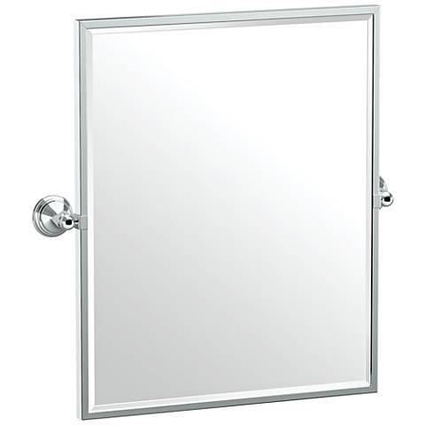 "Gatco Charlotte Chrome 24 1/2"" x 25"" Framed Wall Mirror"