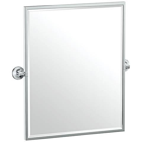 """Gatco Montgomery Chrome 24 1/2"""" x 25"""" Framed Wall Mirror"""