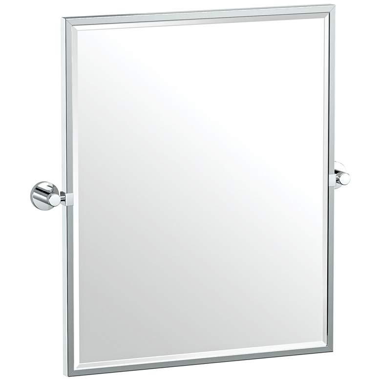 """Gatco Glam Chrome 23 3/4"""" x 25"""" Framed Wall Mirror"""