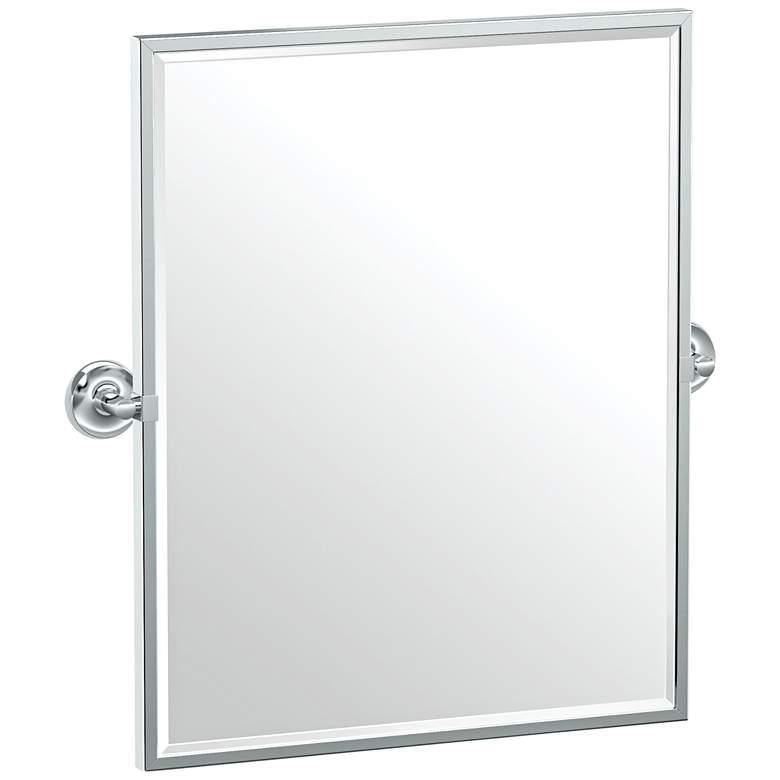 "Gatco Designer II Chrome 24 1/2"" x 25"" Framed Wall Mirror"