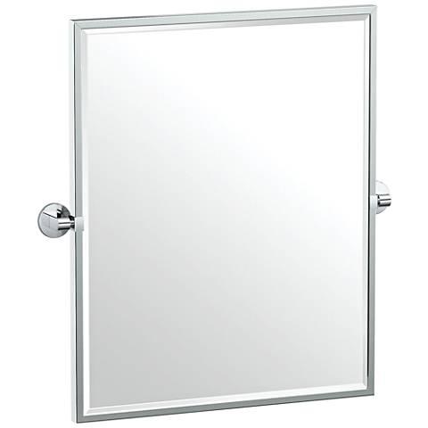 """Gatco Zone Chrome 24"""" x 25"""" Framed Wall Mirror"""