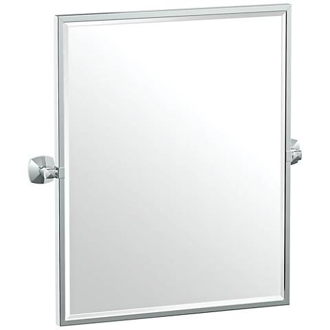 "Gatco Jewel Chrome 24 1/2"" x 25"" Framed Wall Mirror"