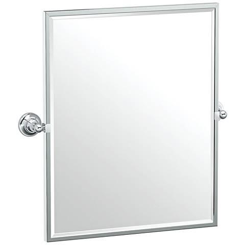"Gatco Tiara Chrome 24 1/4"" x 25"" Framed Wall Mirror"