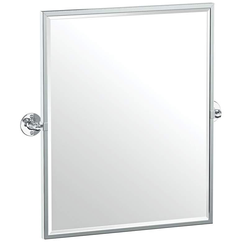 "Gatco Cafe Chrome 24 1/4"" x 25"" Framed Wall Mirror"