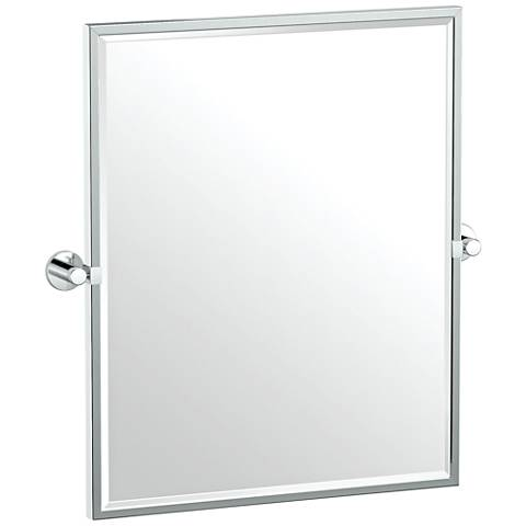 "Gatco Channel Chrome 23 3/4"" x 25"" Framed Wall Mirror"