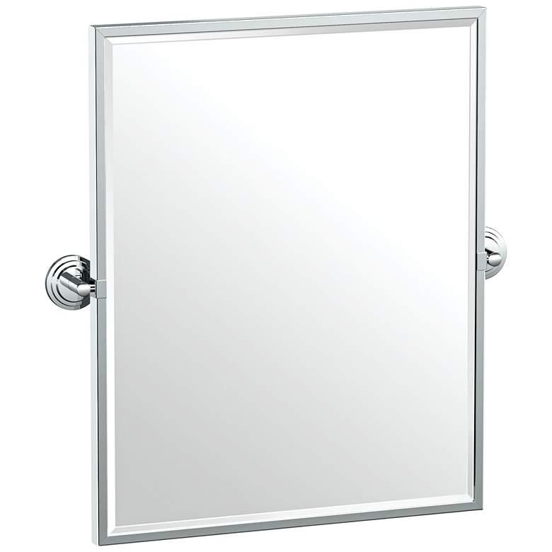 "Gatco Marina Chrome 24 1/4"" x 25"" Framed Wall Mirror"