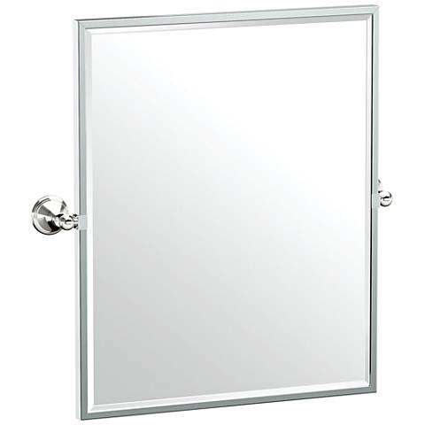 "Gatco Laurel Ave Polished Nickel 24 1/4"" x 25"" Wall Mirror"