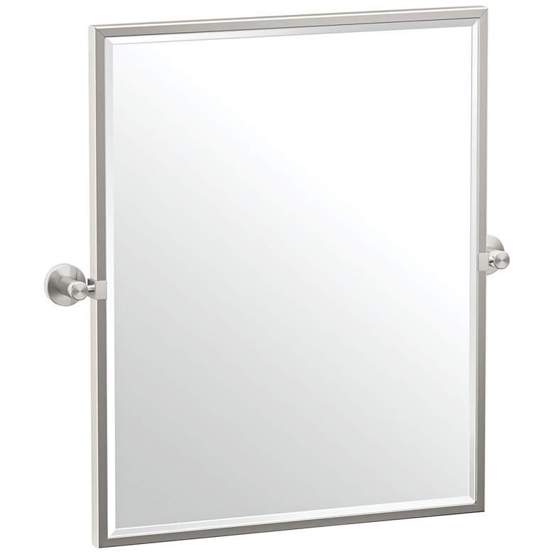 """Gatco Glam Satin Nickel 23 3/4"""" x 25"""" Framed Wall Mirror"""