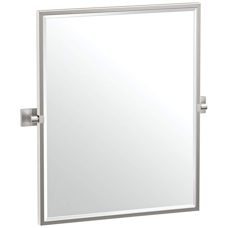 "Gatco Elevate Satin Nickel 23 3/4"" x 25"" Framed Wall Mirror"