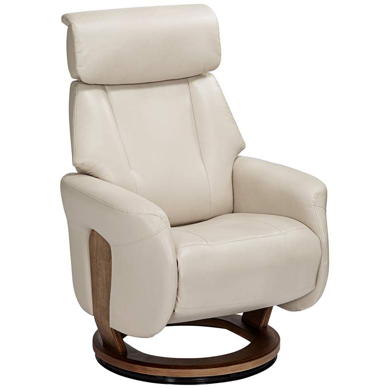 Augusta Taupe Faux Leather 4-Way Recliner Chair