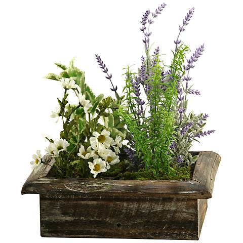 "Lavender Mint and Springeri 16"" Wide Faux Flowers"