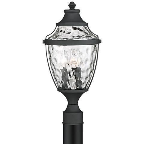 "Wilson 19"" High Textured Black Outdoor Post Light"