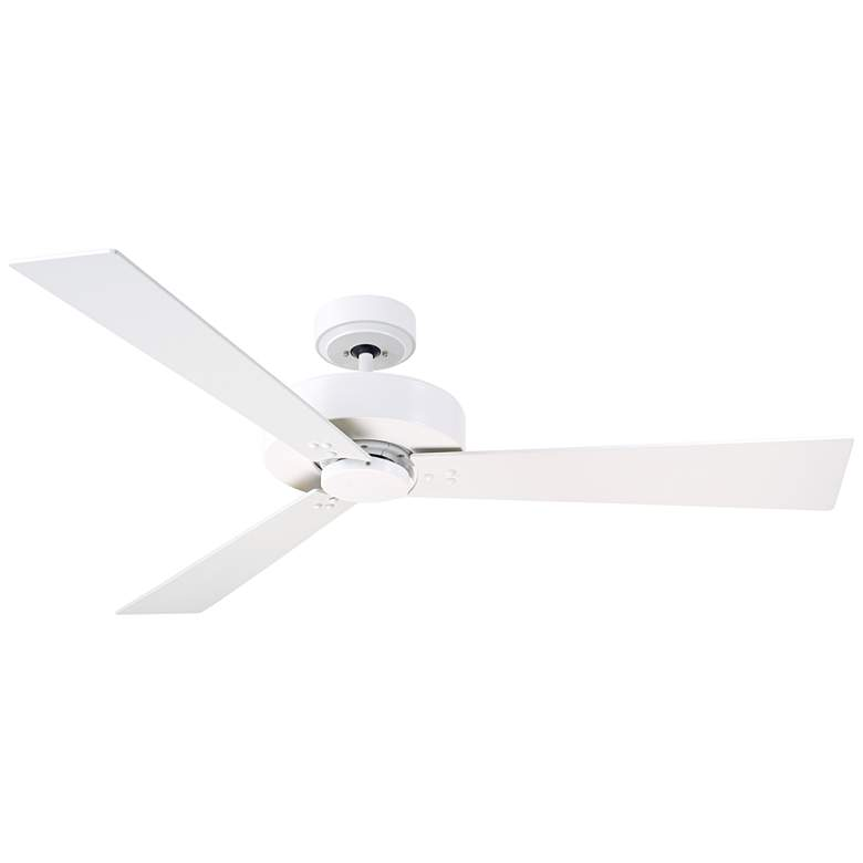 """52"""" Emerson Keane Satin White and Maple Ceiling Fan"""